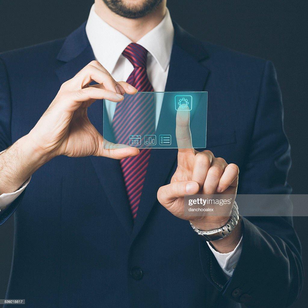 Using touch screen high tech phone