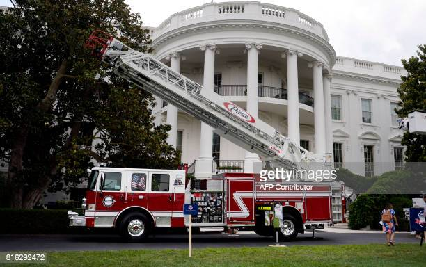 USmade products from all 50 states including a fire truck from Wisconsinbased manufacturer Pierce are on display on the South Lawn of the White House...