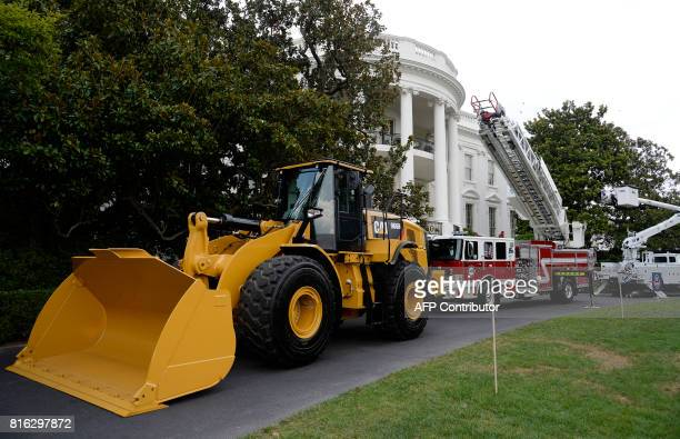 USmade products from all 50 states including an iconic Yellow Iron from Caterpillar Inc are on display on the South Lawn of the White House as part...