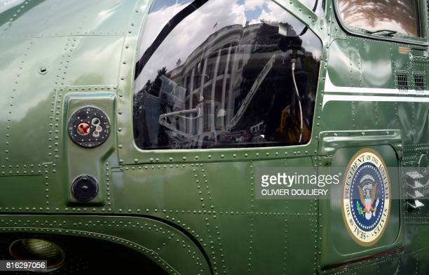 USmade products from all 50 states including Marine Corps VH3 Sea King operating as Marine One from Sikorsky are on display on the South Lawn of the...