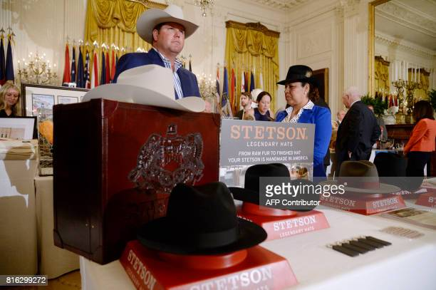 USmade products from all 50 states including Stetson Hats are on display at the White House as part of a 'Made in America' product showcase event in...