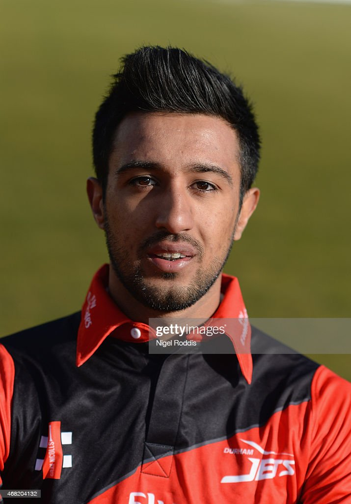 Usman Arshad of Durham poses for a portrait during the Durham CCC Photocall at The Riverside on March 31 2015 in ChesterleStreet England