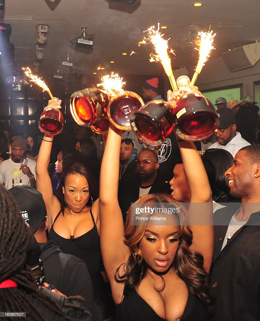 D'usse Cognac on display at the the So So Def anniversary party hosted by Jay Z at Compound on February 23, 2013 in Atlanta, Georgia.