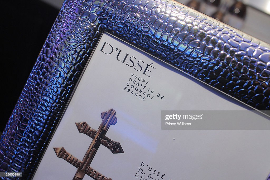 D'usse Cognac Signage on display at the So So Def anniversary party hosted by Jay Z at Compound on February 23, 2013 in Atlanta, Georgia.