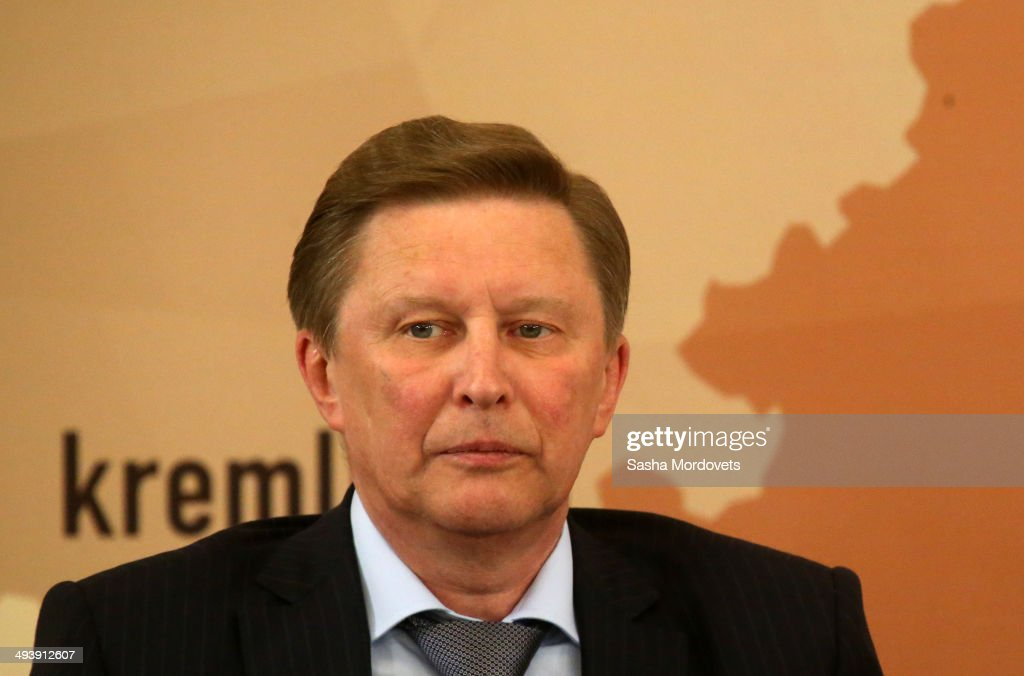ussian Presidential Chief of Staff Sergei Ivanov attends a meeting with governors and mayors on local government on May 26 2014 in Ivanovo Russia...