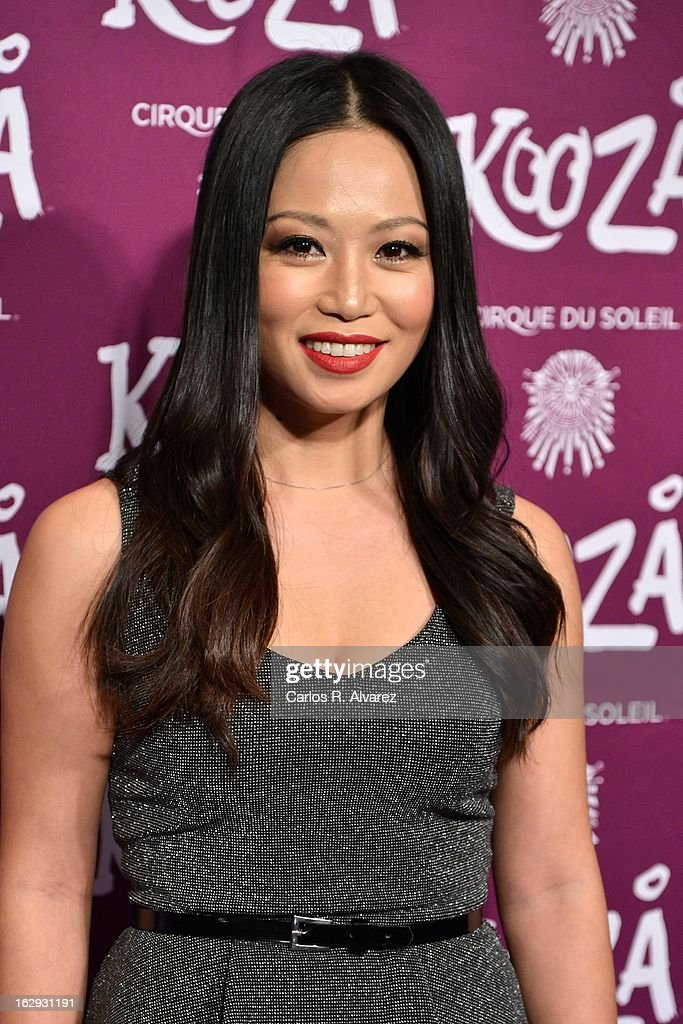 Usun Yoon attends 'Cirque Du Soleil' Kooza 2013 premiere on March 1, 2013 in Madrid, Spain.