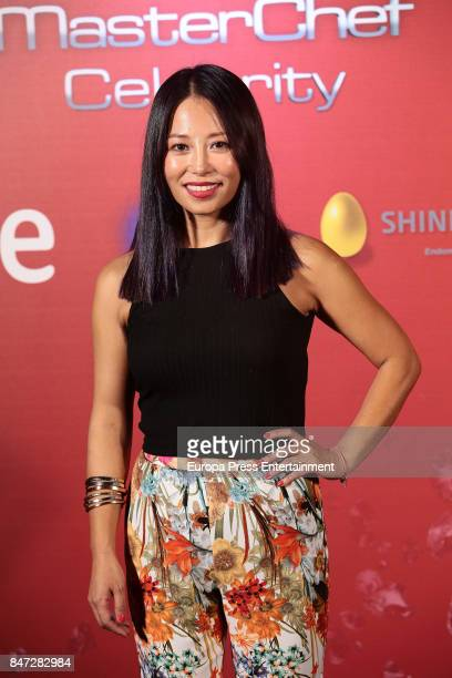 Usun Yoon attends 'MasterChef Celebrity' 2 presentation on September 14 2017 in Madrid Spain