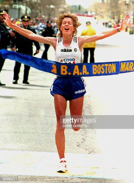 Uta Pippig of Germany broke the course record in the women's division with a time 22145 at the Boston Marathon 18 April 1994 The Men's record was...