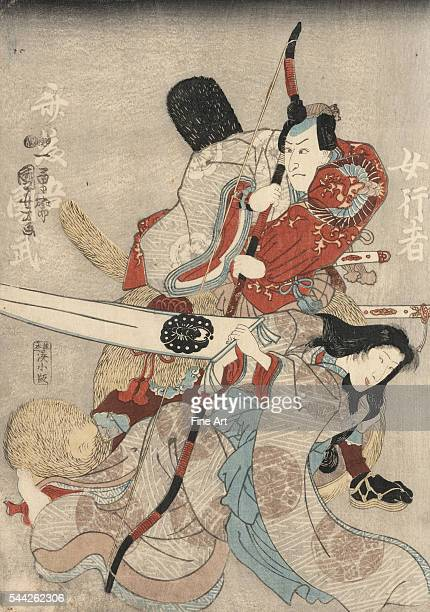 Utagawa Kuniyoshi 17981861 Date Created/Published 1847 or 1848 Center panel of a triptych Color woodcut print 355 x 736 cm 351 x 248 cm