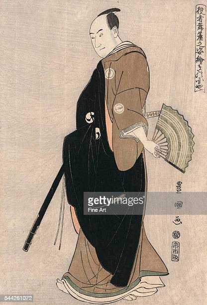 Utagawa Toyokuni 17691825 Date Created/Published 1794 Color woodblock print 381 x 254 cm A fulllength portrait of the actor Sawamura Sanjro III in...