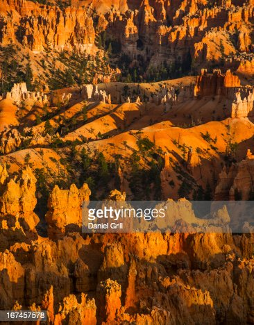 USA, Utah, Bryce Canyon, Landscape with cliffs : Stock Photo