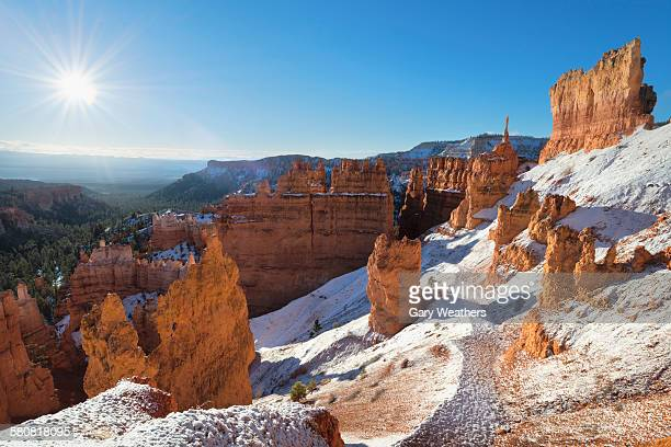 USA, Utah, Bryce Canyon National Park, View of winter landscape