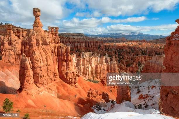 USA, Utah, Bryce Canyon, Pinnacles canyon at sunny day