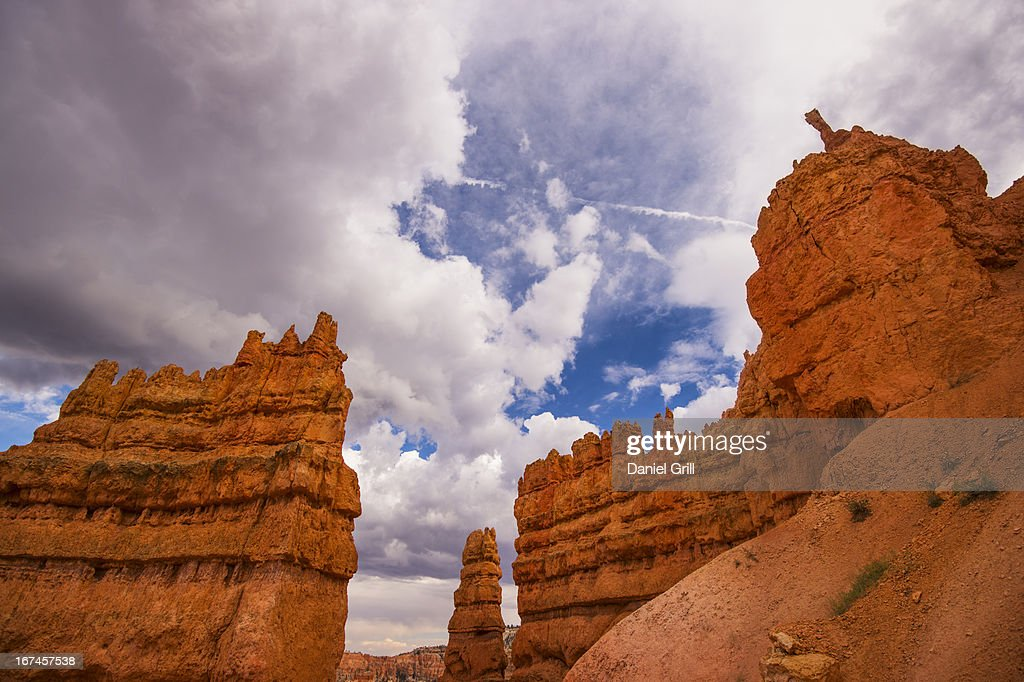 USA, Utah, Bryce Canyon, View of cliffs : Stock Photo