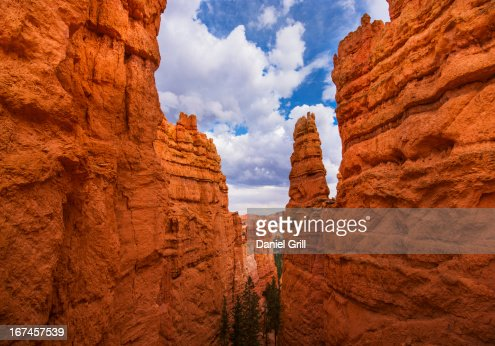 USA, Utah, Bryce Canyon, View of cliffs : Stock Photo