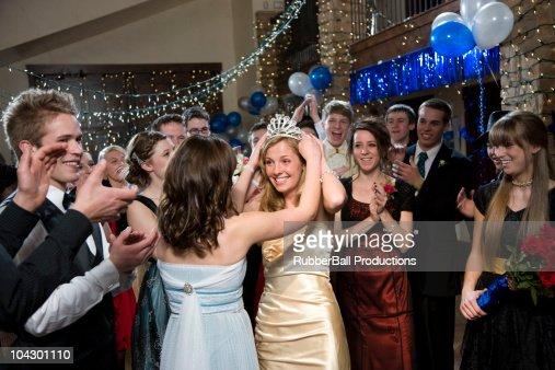 USA, Utah, Cedar Hills, Teenagers (14-17) at high school prom