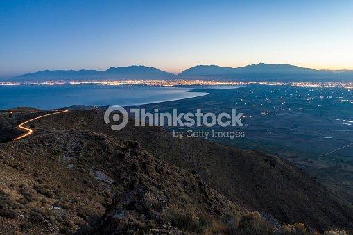 Utah County Inversion Sunrise : Stock Photo