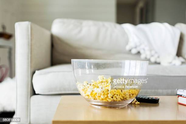 USA, Utah, Farmington, Popcorn on table