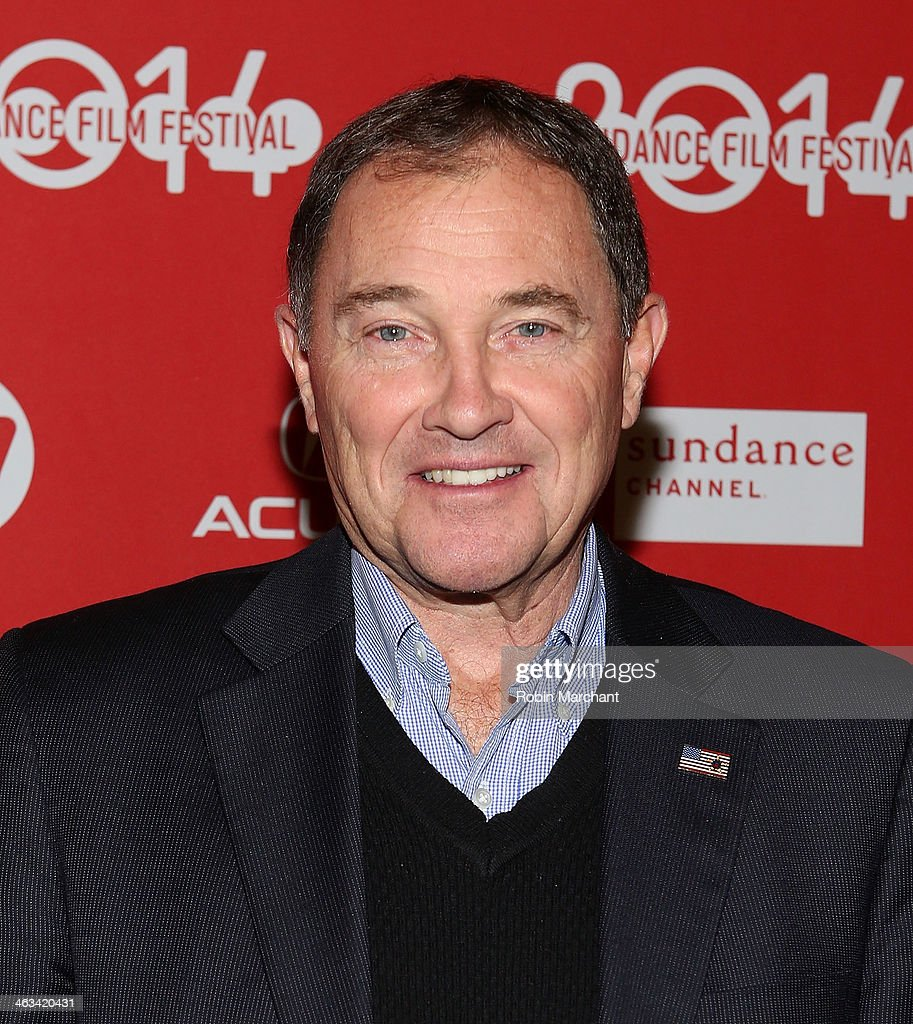 Utah Governor Gary R Herbert attends 'Mitt' Premiere during 2014 Sundance Film Festival at Rose Wagner Performing Arts Center on January 17 2014 in...