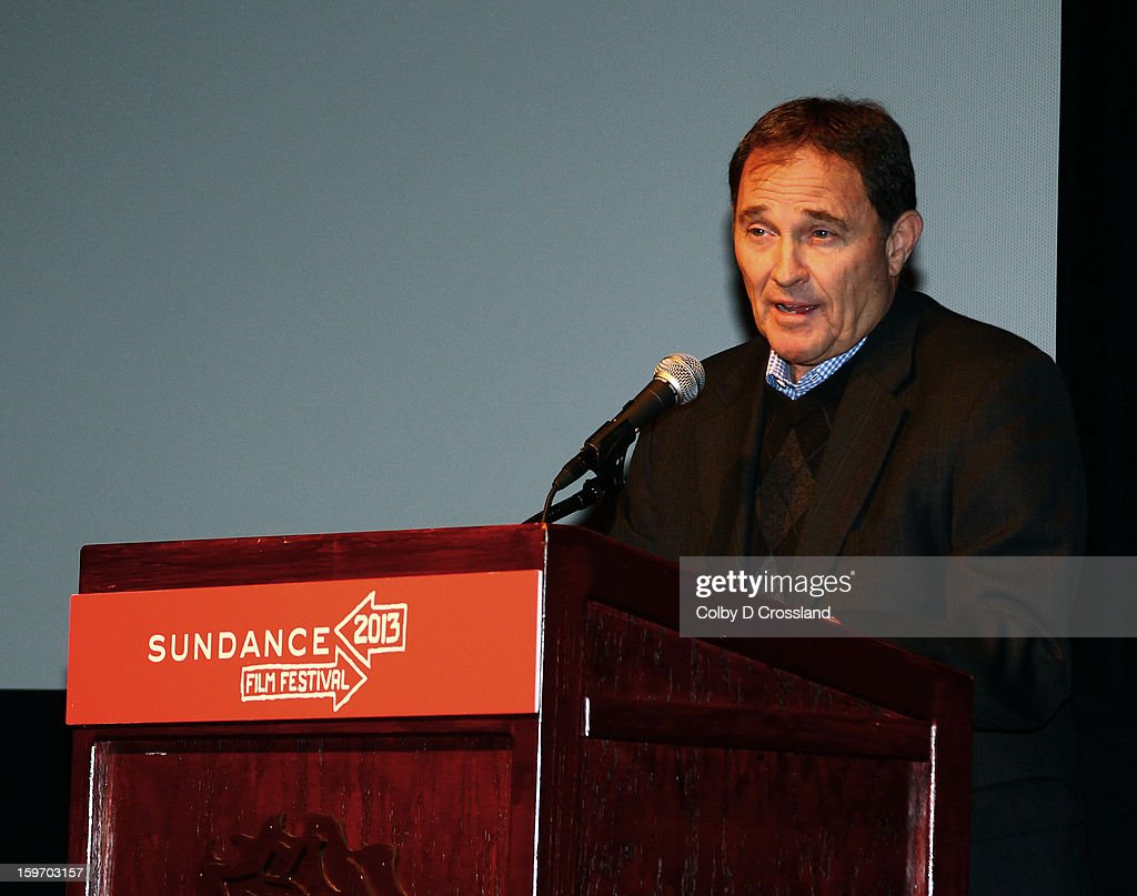 Utah Governor Gary R. Herbert speaks at SLC Gala Green Room during the 2013 Sundance Film Festival at Rose Wagner Performing Arts Center on January 18, 2013 in Salt Lake City, Utah.