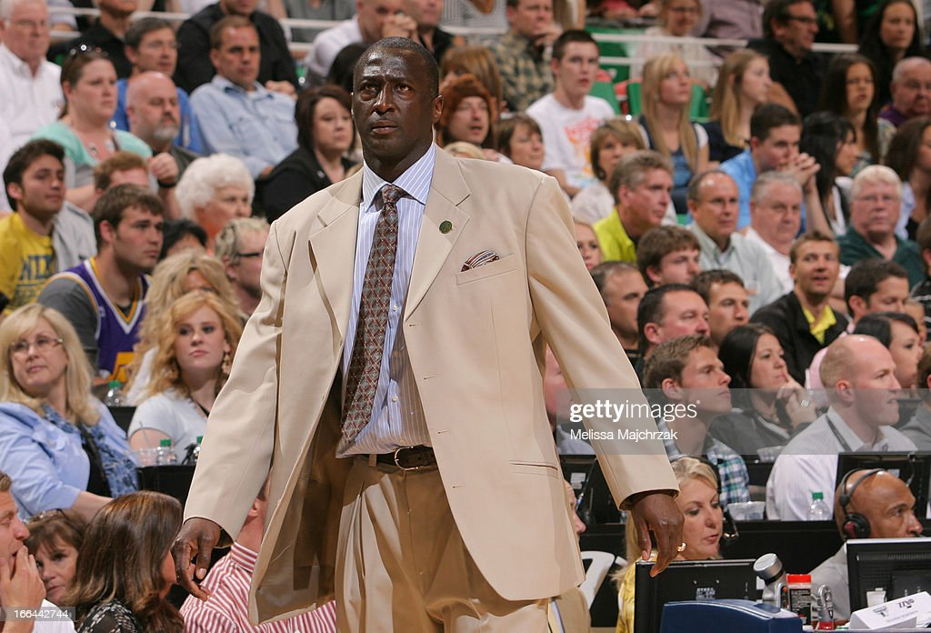 Utah Jazz head coach, Tyrone Corbin, looks on during the game against the Minnesota Timberwolves at Energy Solutions Arena on April 12, 2013 in Salt Lake City, Utah.