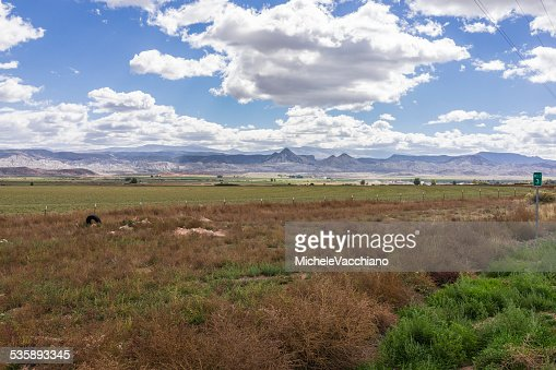 Utah.  Landscape near Salina along the US Highway 50 : Stock Photo