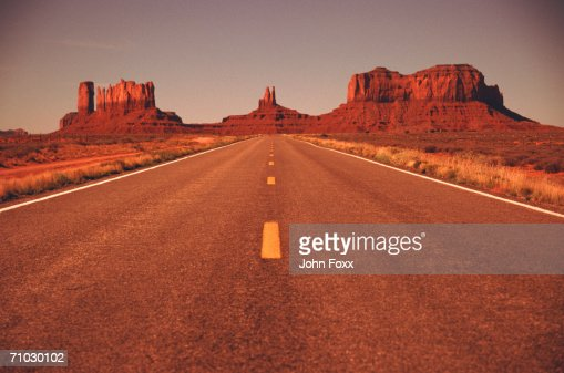 USA, Utah, Monument Valley National Park, View of empty road : Stock Photo