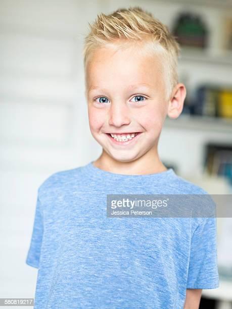 USA, Utah, Provo, Portrait of blue eyed boy (4-5)