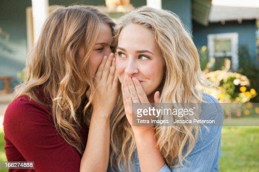 USA, Utah, Provo, Two friends gossiping