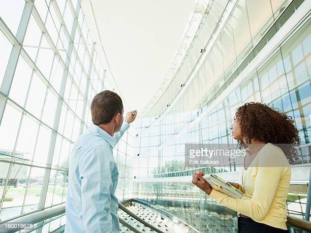 USA, Utah, Salt Lake City, Man pointing at something to woman