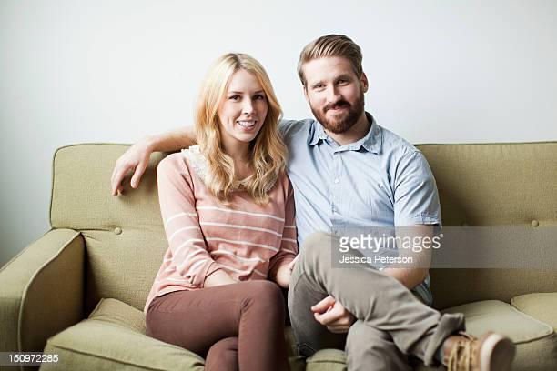 USA, Utah, Salt Lake City, Portrait of young couple