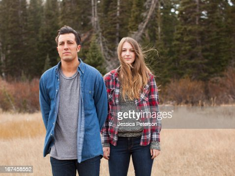 USA, Utah, Salt Lake City, portrait of young people in non-urban scene : Stock Photo