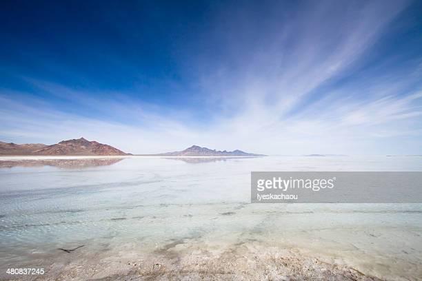 USA, Utah, Salt Lake City, Salt Lake County, View of Grat Salt lake