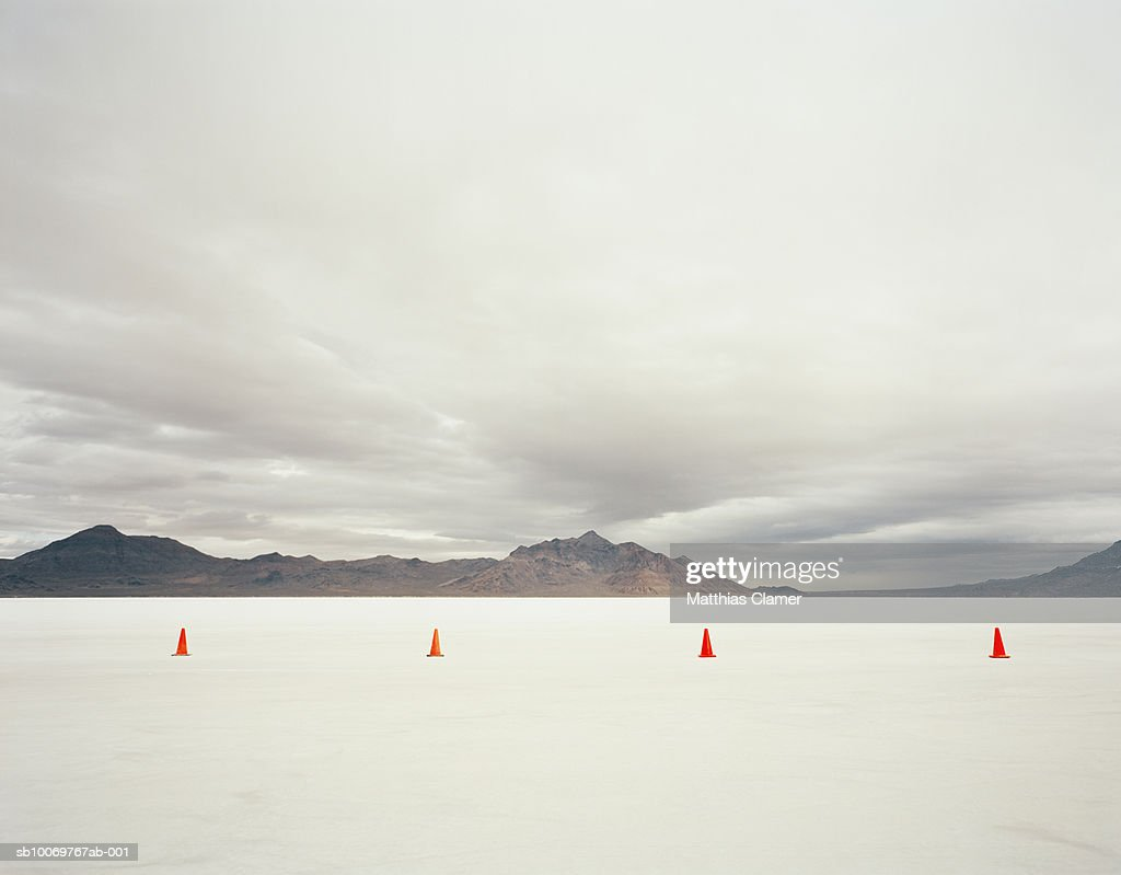 Utah, Salt Lake City, Traffic cones in salt lake