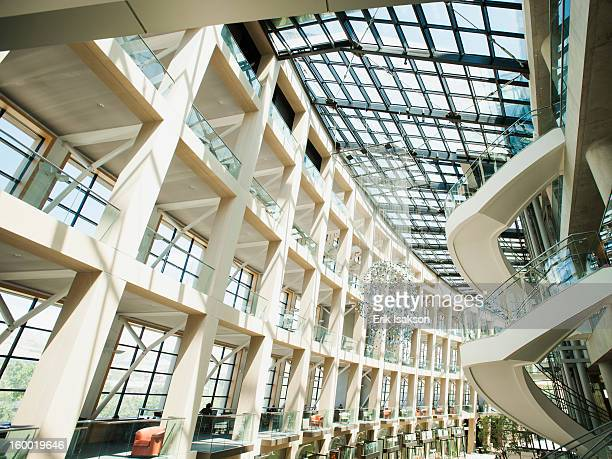USA, Utah, Salt Lake City, View of modern building with glass roof