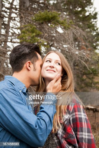 USA, Utah, Salt Lake City, young couple in non-urban scene : Stock Photo