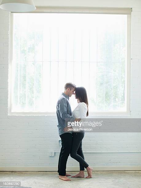 USA, Utah, Salt Lake, Young couple looking at each other