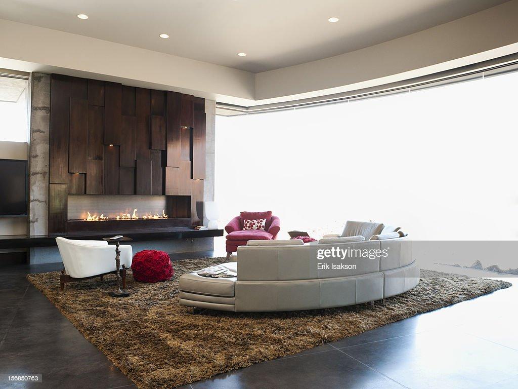 Usa utah st george interior of modern living room stock for Modern living room usa