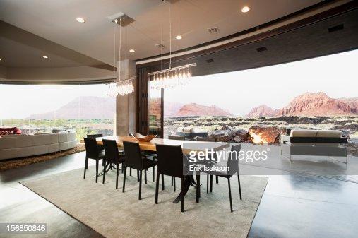 USA Utah St George Spacious Interior Of Modern Living Room Stock