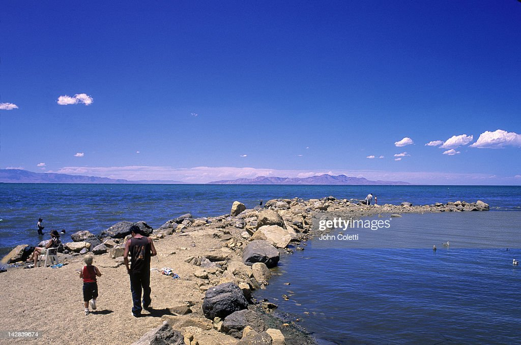 Utah's Great Salt Lake, UT : Stock Photo