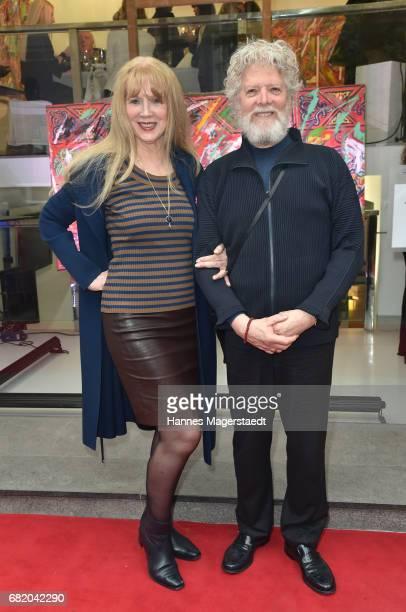 Ute Cremer and Paul Werner during 'Maximilian Seitz EinwicklungenImpressionismusFest im Orient' Exhibition Opening at Susanne Wiebe Fashion Store on...