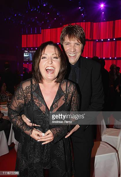 Ute Freudenberg and Christian Lais attend the 'Deutscher Live Entertainment Award PRG LEA 2011' at the Festhalle on April 5 2011 in Frankfurt am Main...