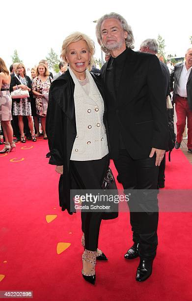 Ute Henriette Ohoven CEO Lambertz Hermann Buehlbecker attend the CHIO 2014 media night on July 15 2014 in Aachen Germany