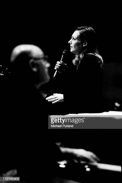Ute Lemper and Michael Nyman perform on stage at the Royal Festival Hall London 1992