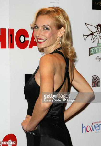 Ute Lemper arrives for a charity performance celebrating 10 years of the popular musical Chicago at the Cambridge Theatre London
