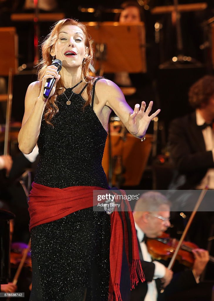 Ute Lemper performs at the opening night of the Classic Open Air festival at Gendarmenmarkt on July 21 2016 in Berlin Germany
