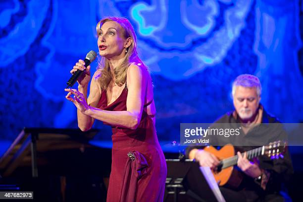 Ute Lemper performs on stage during Festival del Millenni at Palau De La Musica on February 7 2014 in Barcelona Spain