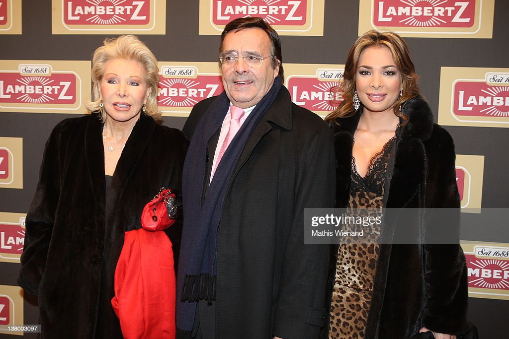 Ute, Michael and Chiara Ohoven attend the red carpet at the 'Lambertz Monday Night' January 30, 2012 in Cologne, Germany.