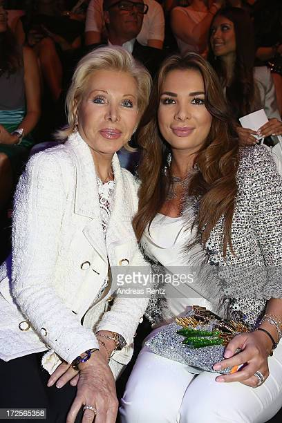 Ute Ohoven and Chiara Ohoven attend the Guido Maria Kretschmer show during MercedesBenz Fashion Week Spring/Summer 2014 at Brandenburg Gate on July 3...