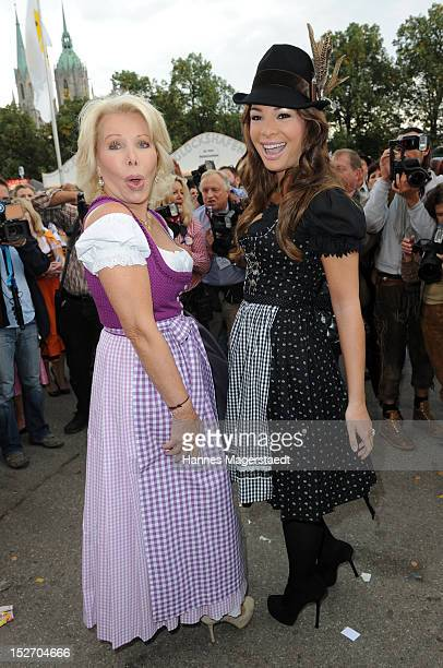 Ute Ohoven and daughter Chiara Ohoven attend the 'Sixt Damenwiesn' as part of the Oktoberfest beer festival at Hippodrom beer tent on September 24...